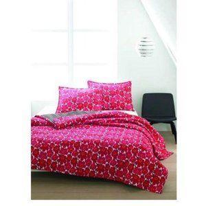 Marimekko Unikko Red Poppy Twin Size Quilt